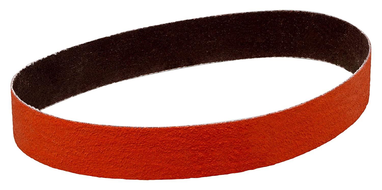 3M Cloth Belt 27780-case 977F, 1-1/2 in x 18-15/16 in 80 YF-Weight, 50 Per Case, Ceramic, Coating, Cut, Cutting Angle, Flute, Orange (Pack of 50)