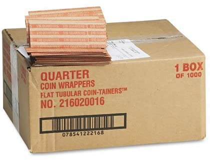 MMF Industries : Pop-Open Flat Paper Coin Wrappers, Quarters, $10, 1,000 Wrappers per Box -:- Sold as 2 Packs of - 1000 - / - Total of 2000 Each by MMF Industries