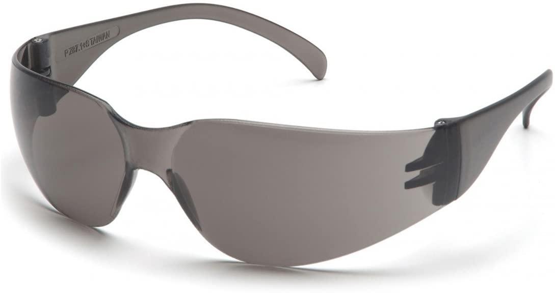 (12 Pair) Pyramex Intruder Glasses Gray Frame/Gray-Hardcoated Lens (S4120S)