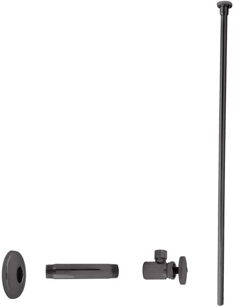 Westbrass Flat Head Toilet Kit with Round Handles, 1/2