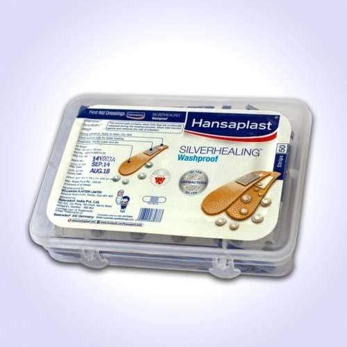 Hansaplast silverhealing washproff Bandage Pack of 50