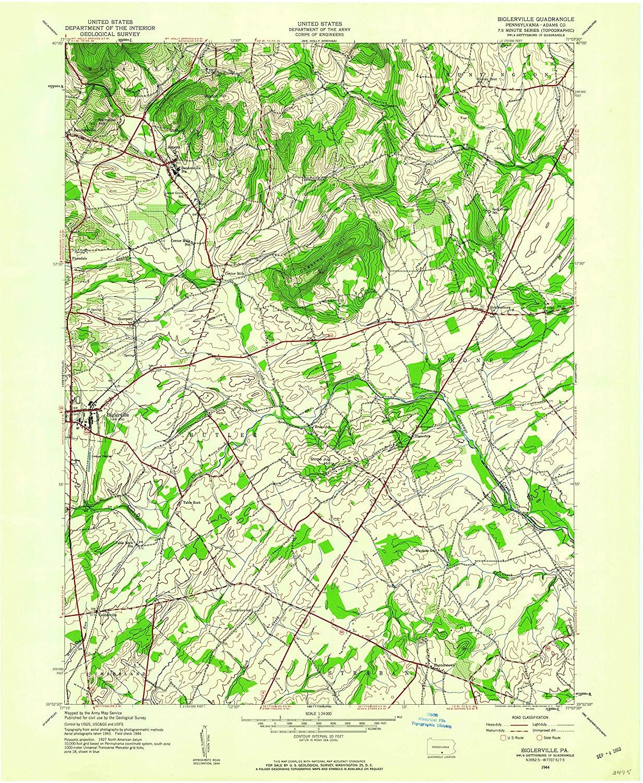 Map Print - Biglerville, Pennsylvania (1944), 1:24000 Scale - 24