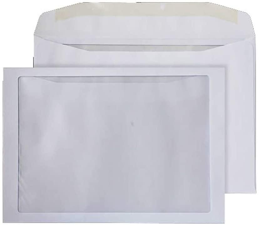 Blake Purely Everyday C4 229 x 324 mm 100 GSM Gummed Mailer Full Face Window Envelopes (FFW370) White - Pack of 250
