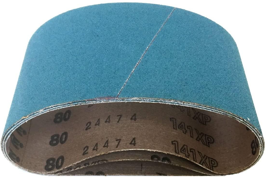 3-1/2 X 15-1/2 Sander Belts Zirconia Cloth Narrow, 15 Pack (50 Grit)