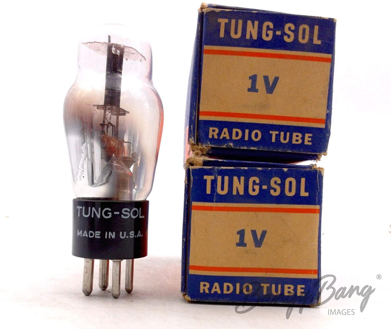 2 Vintage Tung-Sol 1V/CV1999 Half Wave Rectifier Valve- BangyBang Tubes