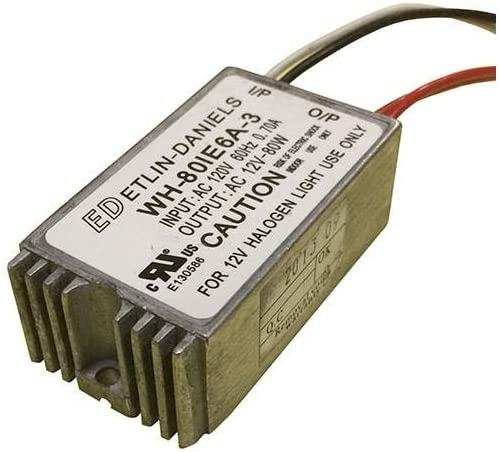 WH-801E6A-3 Etlin Daniels 80w 120v-12v electronic transformer
