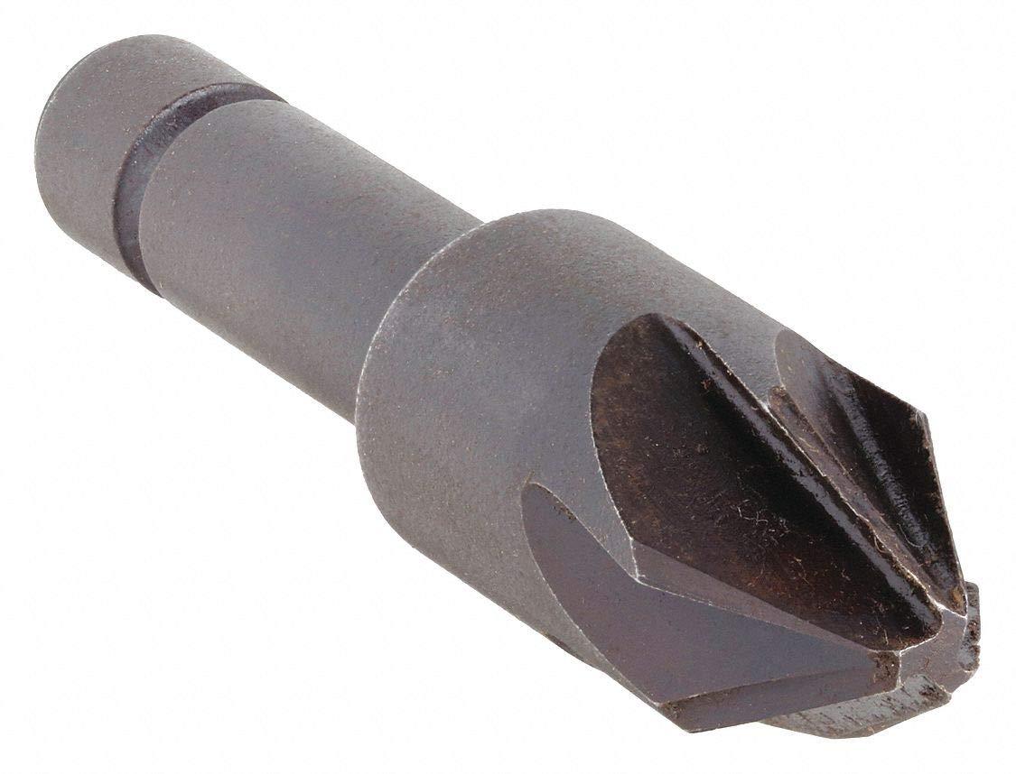 Countersink, 6 Fl, 60 Deg, 1/4, Cobalt