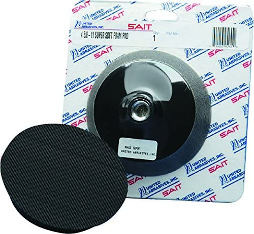 United Abrasives-SAIT 95255 Super Soft Buffing Disc Backing Pad, 5 X 5/8-11, 1 Per Box