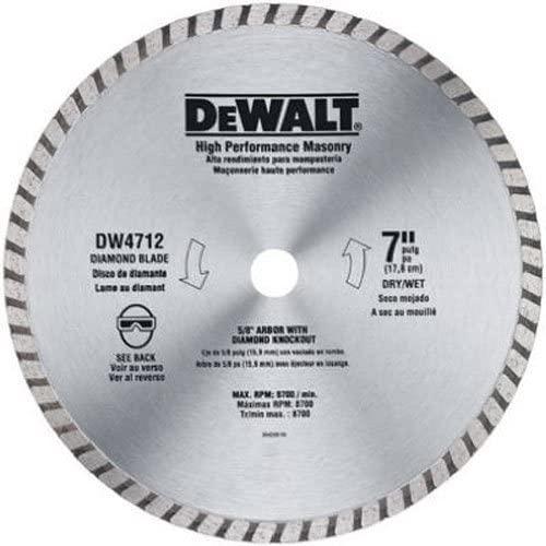 DEWALT DW4712B 7-Inch High Performance Diamond Masonry Blade (3)