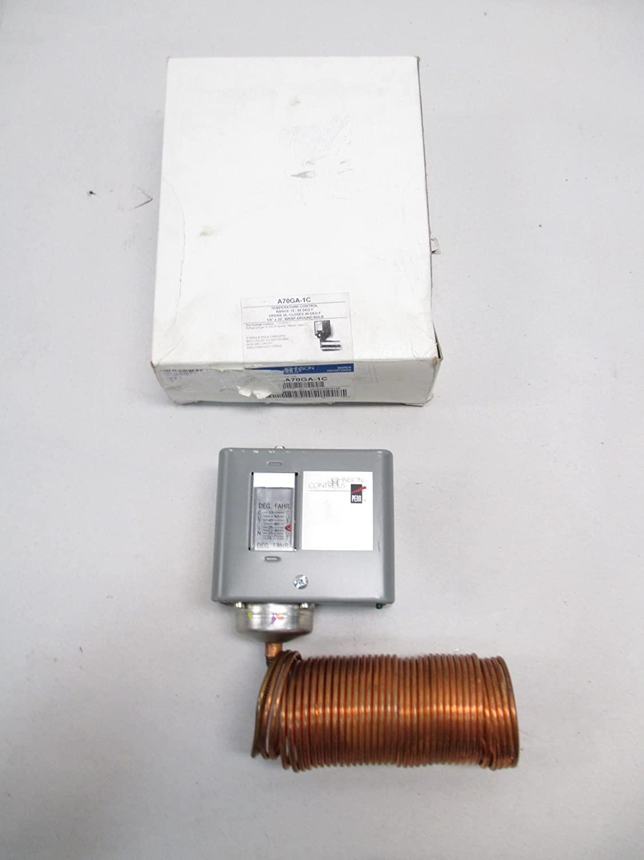 Johnson Controls A70GA-1C A70 Series Two-Circuit Temperature Control, Four-Wire, 15-55 Degree F Temperature Range, 20' Cap