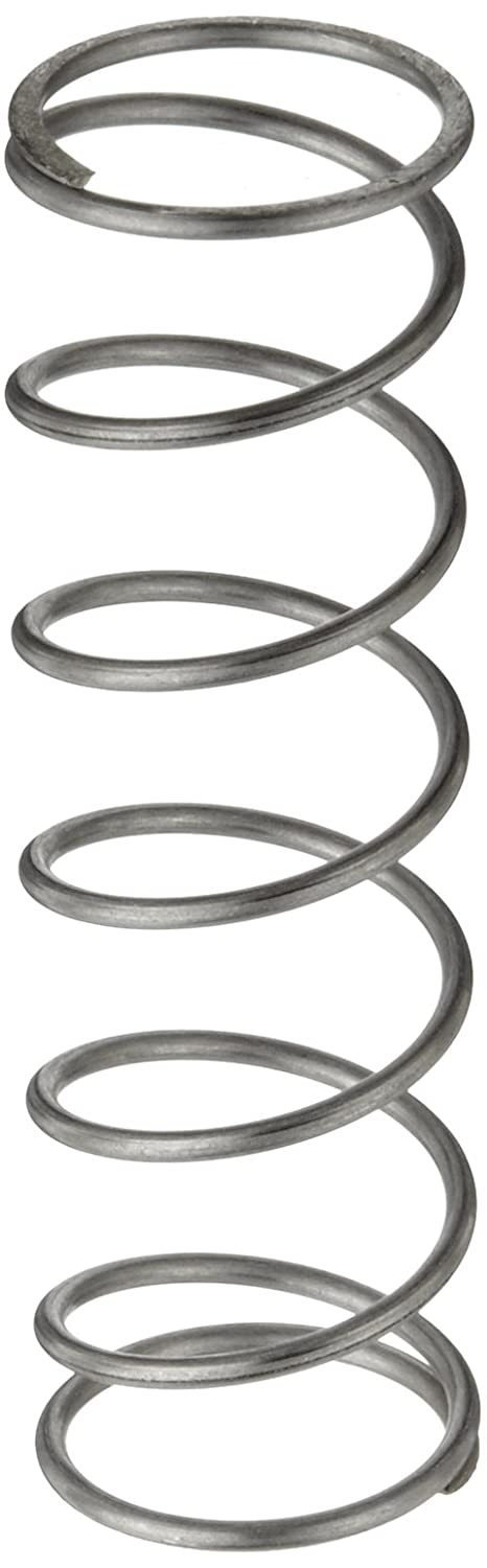 Compression Spring, Stainless Steel, Metric, 27 mm OD, 2 mm Wire Size, 30.99 mm Compressed Length, 135 mm Free Length, 106.18 N Load Capacity, 1.02 N/mm Spring Rate (Pack of 10)