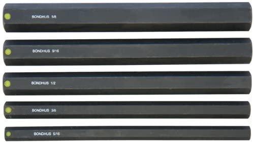 Bondhus 33645 5/16-5/8-Inch 6-Inch ProHold Socket Bits Without Sockets, Set of 5