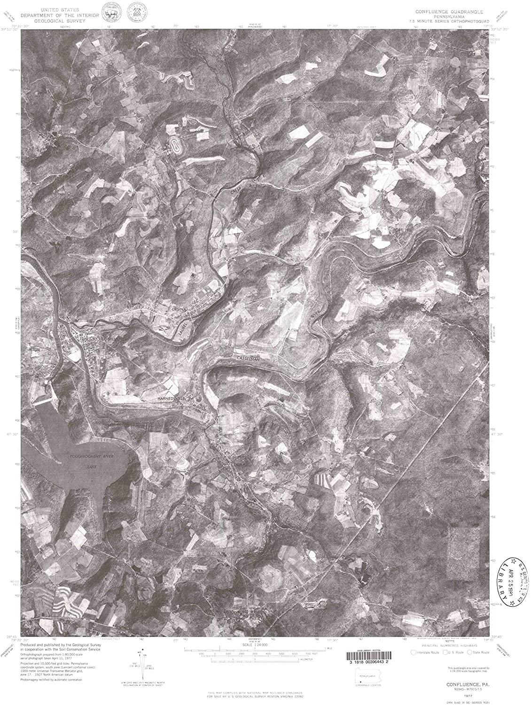 Map Print - Confluence, Pennsylvania (1977), 1:24000 Scale - 24