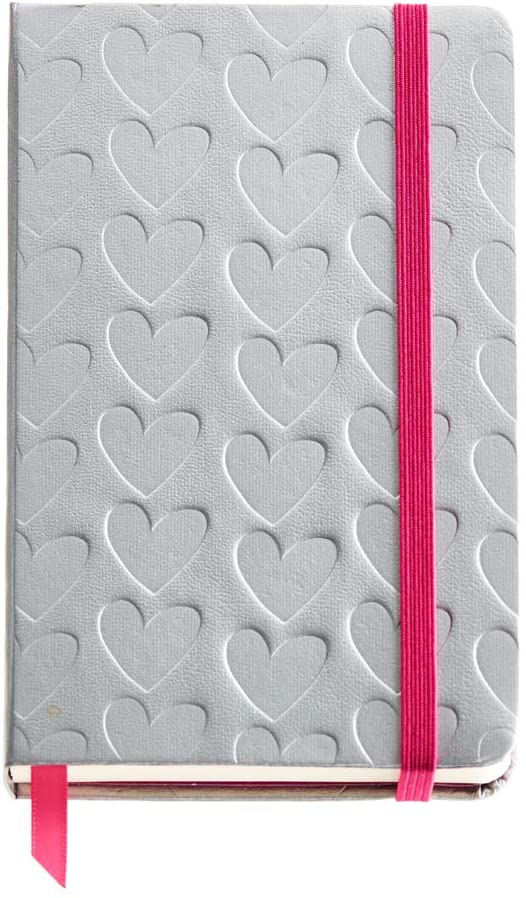 MIQUELRIUS 1199 – Hard Cover Notebook, 90 x 140 mm 100 Sheets Imitation Leather Agatha Ruiz De La Prada Hearts