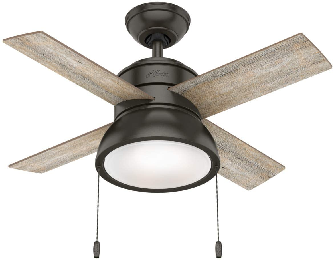 Hunter Fan Company Hunter 59387 Transitional 36``Ceiling Fan from Loki collection Dark finish, Noble Bronze