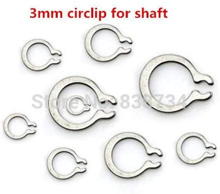 Ochoos 100pcs a2 70 304 Stainless Steel 3mm External C circlips for Shaft Fastener Hardware