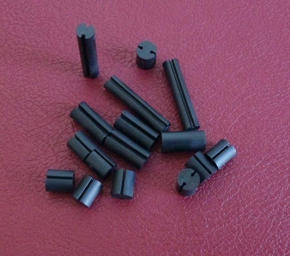 Ochoos 4x3 Dia. 4mm L = 3mm Black LED Spacer Support Hood PCB Board Mount Hardware