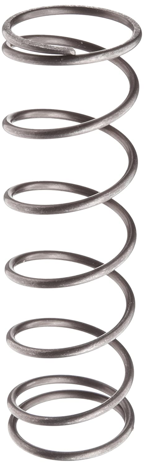 Music Wire Compression Spring, Steel, Metric, 27 mm OD, 2 mm Wire Size, 15.01 mm Compressed Length, 58 mm Free Length, 127.49 N Load Capacity, 2.98 N/mm Spring Rate (Pack of 10)