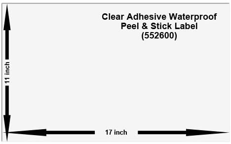 11x17 Waterproof Peel and Stick Labels, Pack of 10, White (552680)