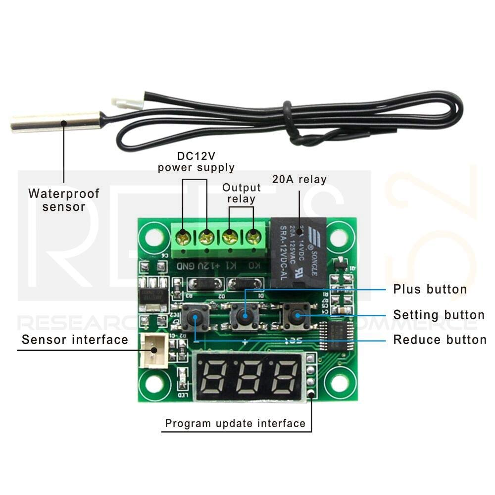 Hindu Guru Goyal SE121 Digital Thermostat Temperature Control Board -50-110 12V + Sensor