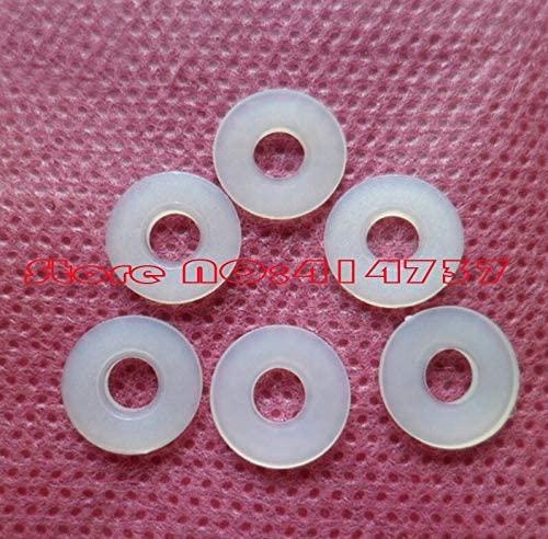 Ochoos 500pcs/lot M24.50.6 M2 Plastic Nylon Flat Washer Gasket