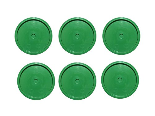 5 Gallon Bucket Flat Lid, Green Plain Plastic Bucket Lids for 3-6 Gallon Plastic Buckets-6 Pack
