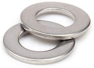 Ochoos 100pcs/Lot 304 Stainless Steel A2 DIN125 M10 Flat Washer Plain Washer Flat Gasket