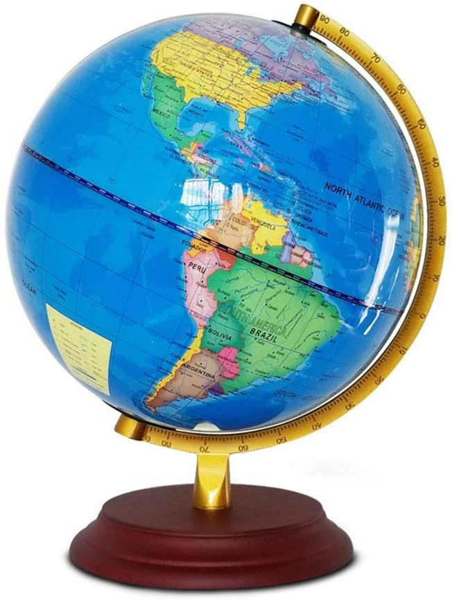 PUEEPDEE World Globe Modes LED World Globes Educational World Globe with Stand Desktop Toy for Children Adults Office Classroom Home Decor Globe for Learning Education Teaching