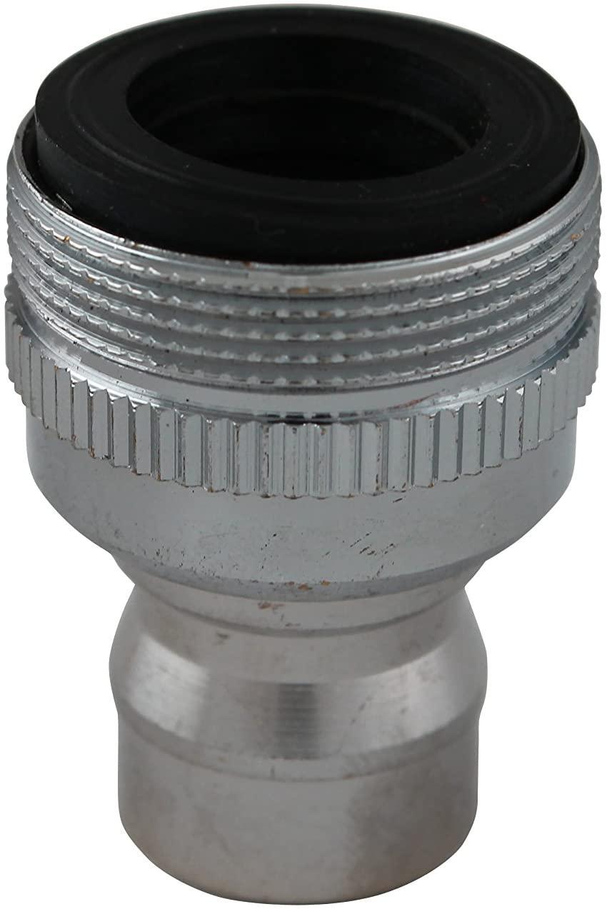 Plumb Pak PP800-6 Faucet Aerator Adapter with Small Diameter Nipple, Chrome Plated