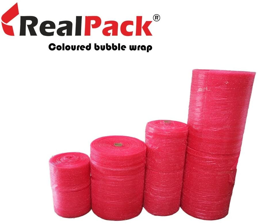 REALPACKÂ 1 x Roll - Antistatic Red Bubble Wrap Size : Wide 12