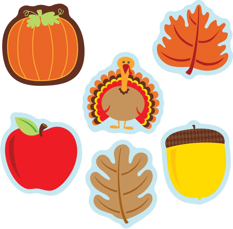 Carson Dellosa – Fall Mix Mini Colorful Cut-Outs, Fall Classroom Décor, 36 Pieces, Assorted Designs (120180)