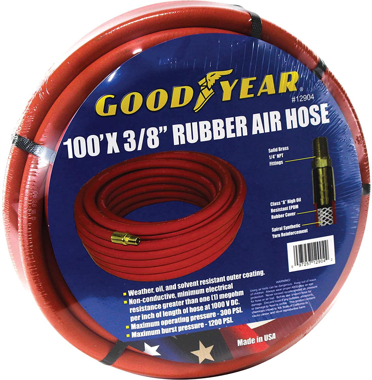 Goodyear Variflex Air Hose - 3/8in. x 100ft. 300 PSI, Model Number 12906