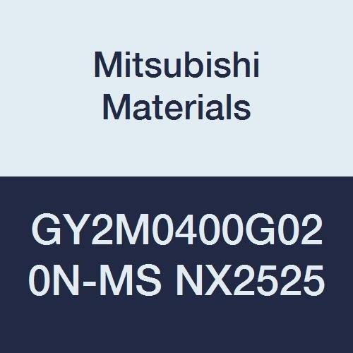 Mitsubishi Materials GY2M0400G020N-MS NX2525 Cermet GY Grooving Insert for Multifunctional and Low Feeds 2 Teeth, G Seat, 0.157