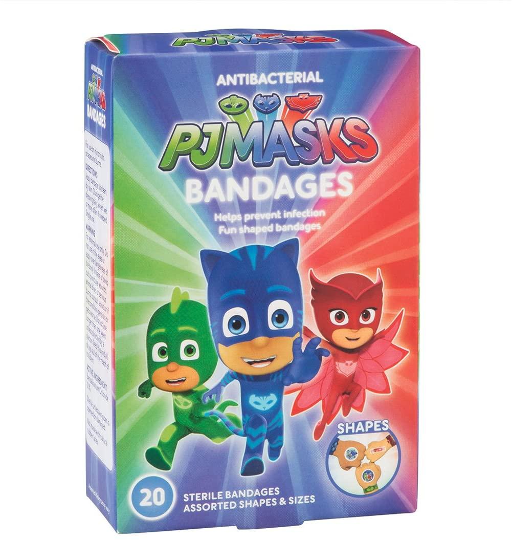 PJ Masks Antibacterial Bandages - First Aid Kit Supplies - 2 Boxes per Unit