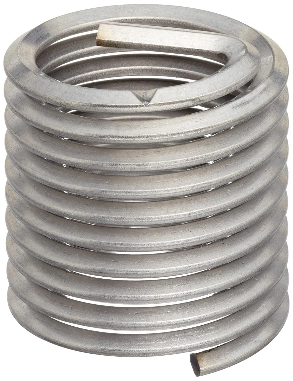 E-Z Lok EK41115 Metric Helical Threaded Insert Kit, 304 Stainless Steel, M14-2.0 Thread Size, 21 mm Installed Length (Pack of 5)