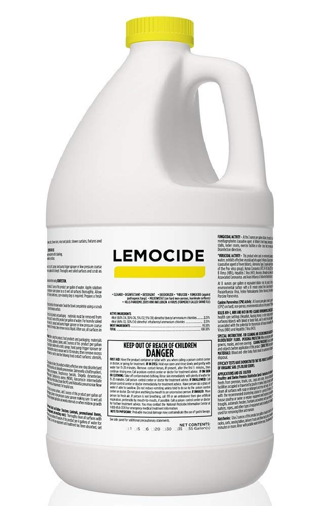 Lemocide Concentrate Cleaner, Gallon