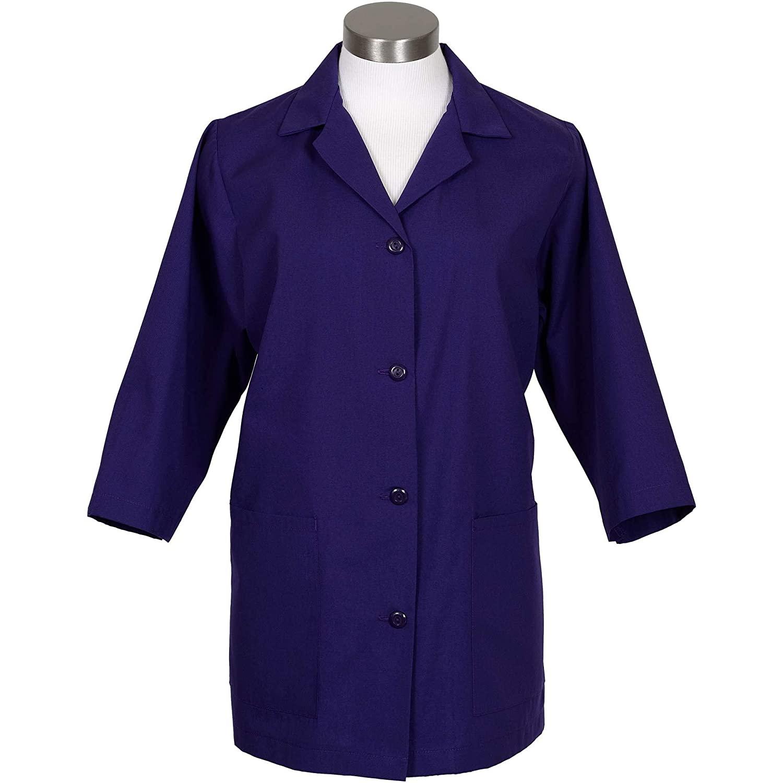 Fame Fabrics 32541 K72 Female Smock, 3/4 Length Sleeves, Purple, SM