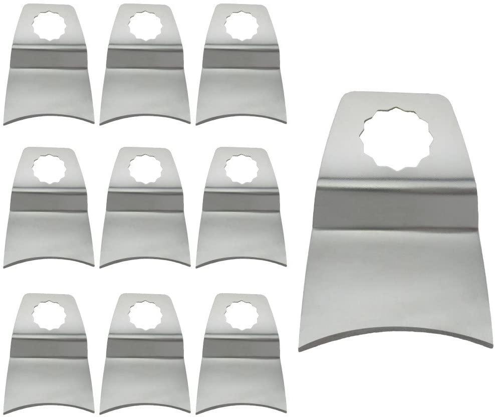 Harpow 10 Pieces Concave Rigid Scraper,power oscillating tool blades,multitool blades,power tool saw blades,fits Fein Bosch Craftsman Rockwell Einhell Westfalia Ferm Pro-Line Matrix tools
