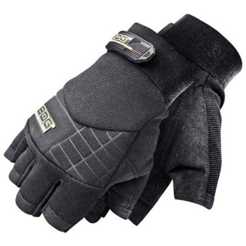 Bob Dale 20-1-10670-X2L Synthetic Performance Fingerless Impact Glove, 2X-Large, Black