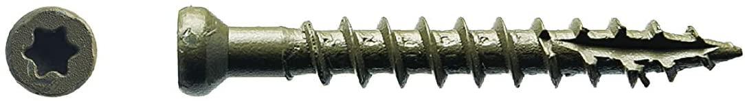 Big Timber 5FS7114#7 by 1-1/4-inch T-10-drive bit Tiny Finish Head Screws-Exterior,(1485 per Box)