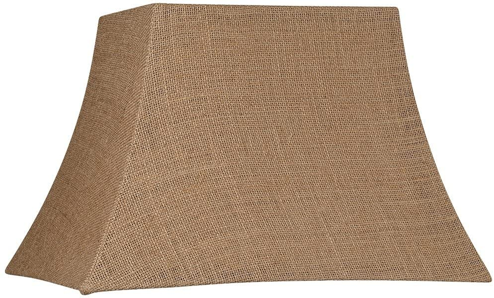 Natural Burlap Rectangle Lamp Shade 7/10x12/16x11 (Spider) - Brentwood
