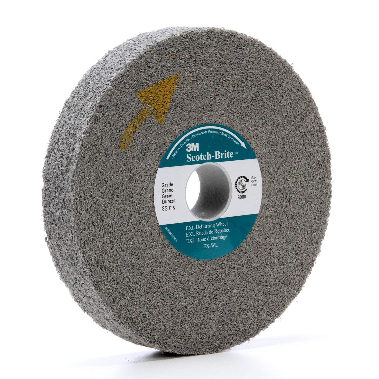 Scotch-Brite 18280 EXL Deburring Wheel, Silicon Carbide, Abrasive Grit, 2