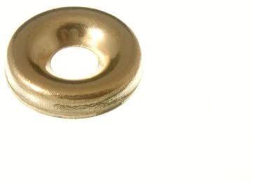 40 x SCREW CUP SURFACE FINISHING WASHERS NO. 6 BRASS PLATED STEEL