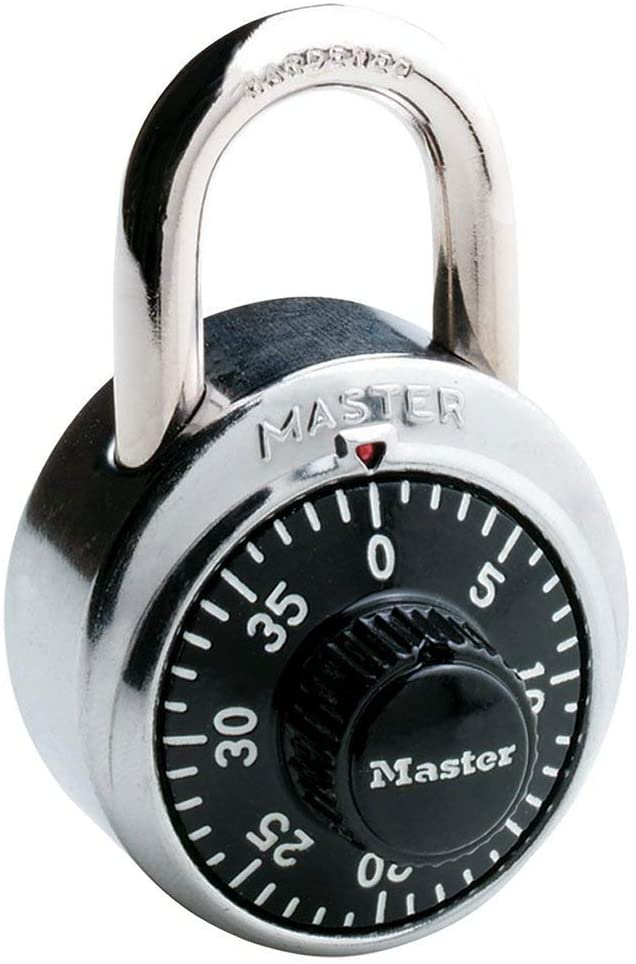 Master Lock 1500D 4 Pack 1-7/8in. Combination Dial Padlock
