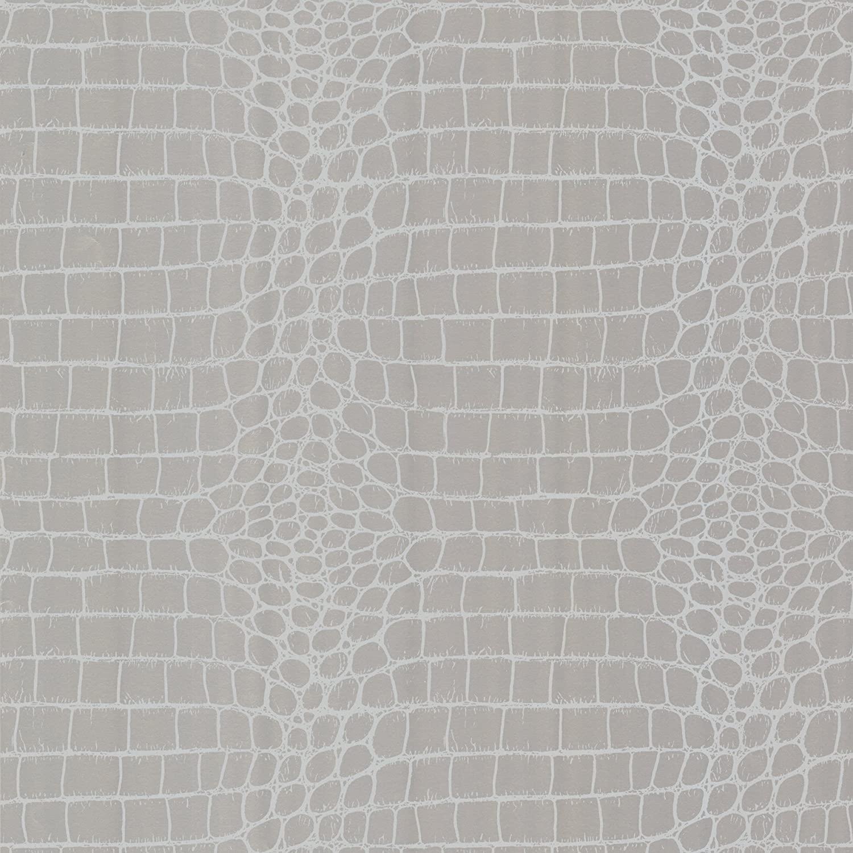 Beacon House 450-67379 Croc Silver Crocodile Wallpaper, Silver