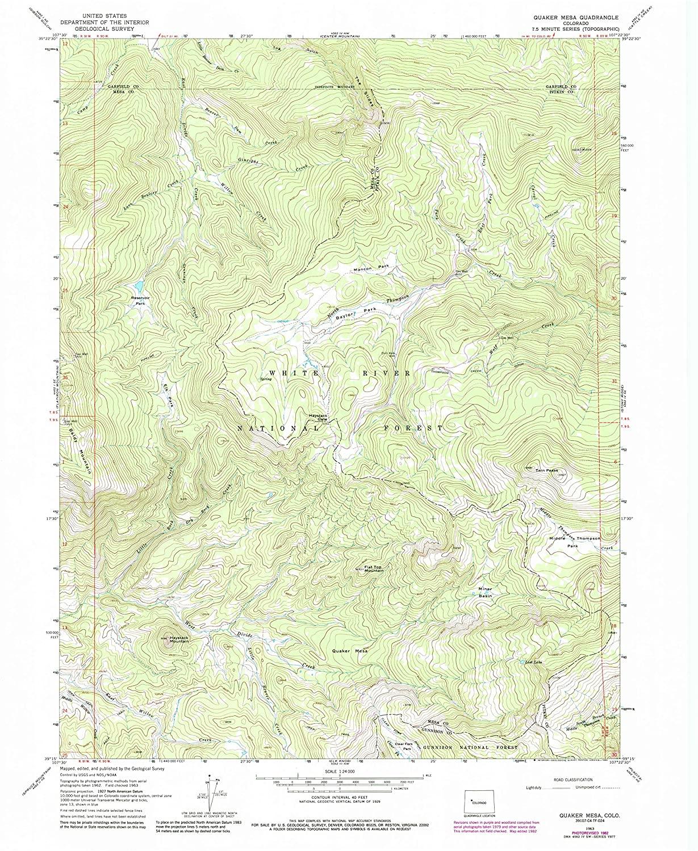 Map Print - Quaker Mesa, Colorado (1963), 1:24000 Scale - 24