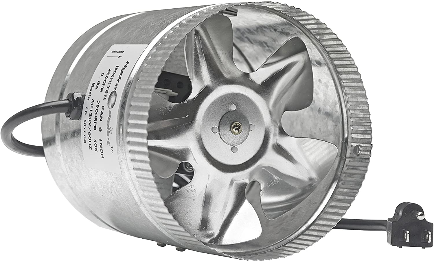 Hydroplanet™ 6 Inch Exhaust Duct Fan High CFM, 6 280 CFM (6 Inch)