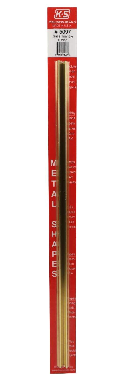 K&S Precision Metals 5097 Brass Triangular Tube Shape, 12