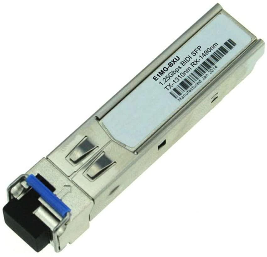 LODFIBER E1MG-BXU Brocade Compatible 1000BASE-BX-U BiDi SFP 1310nm-TX/1490nm-RX 10km DOM Transceiver