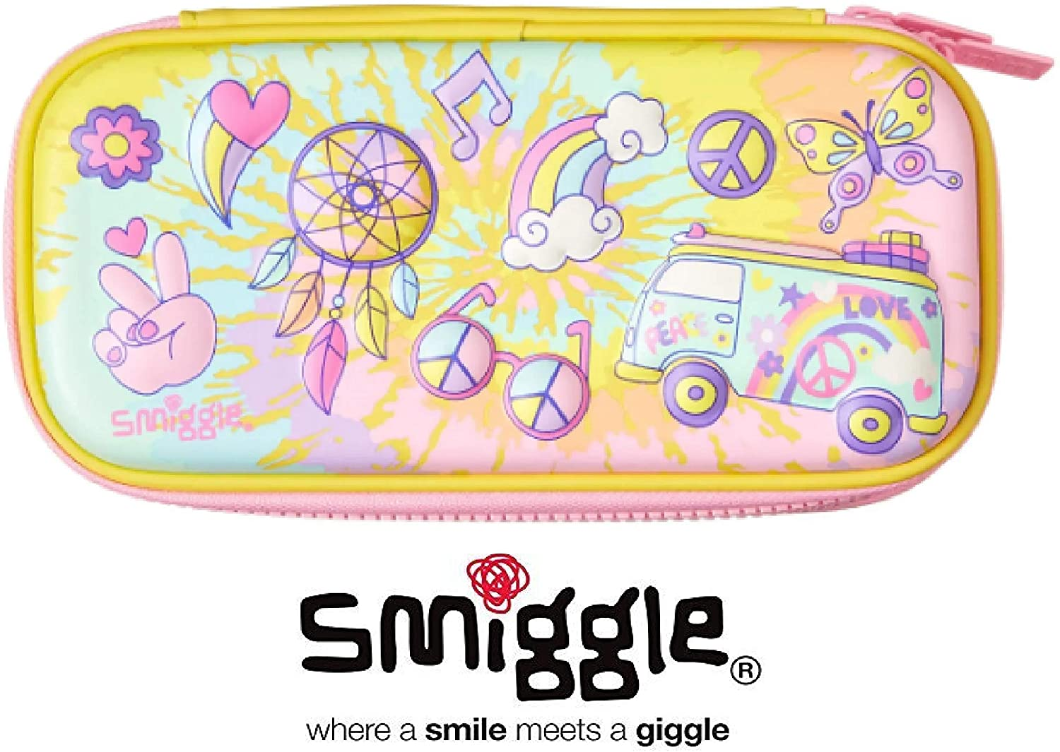 Smiggle Hippy Small Hardtop Pencil Case Yellow